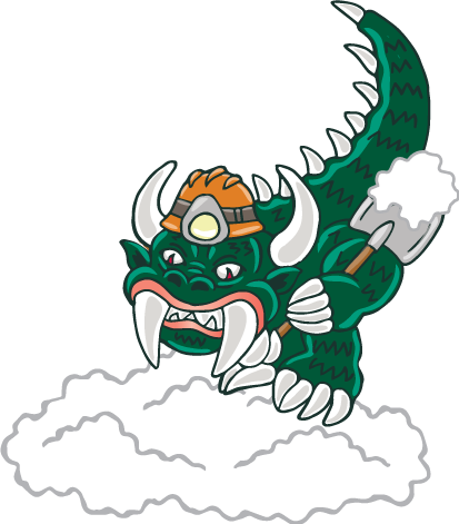 Hodag digging into the tunnel
